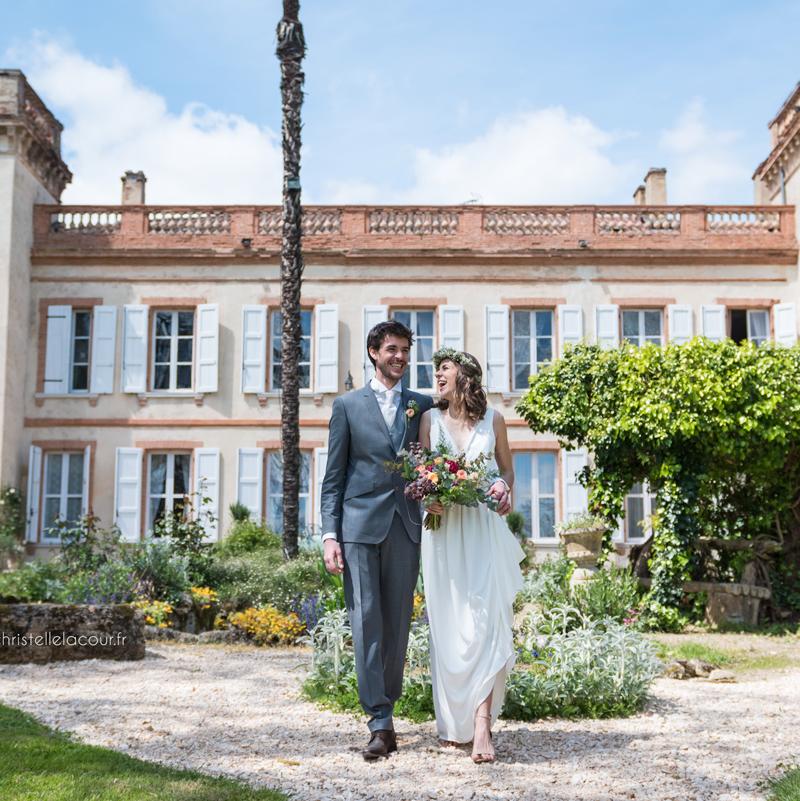 Mariage au château de Calaoué dans le Gers - la façade du château