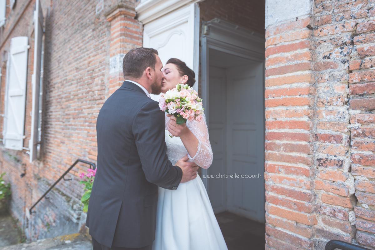 Mariage au château des Varennes près de Toulouse, la découverte des mariés