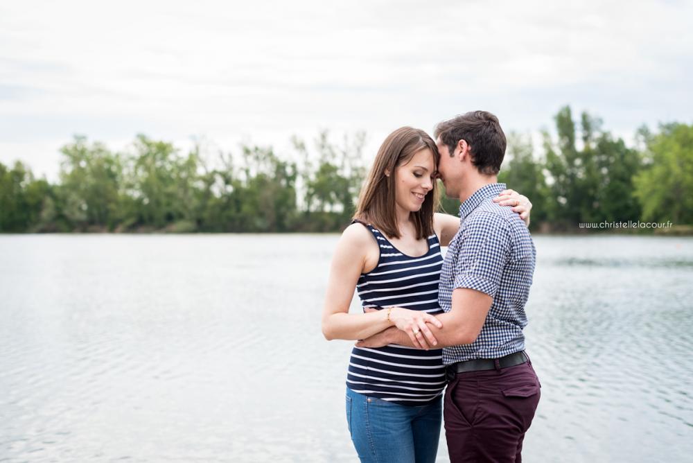 Séance grossesse au lac du Bocage | Elise
