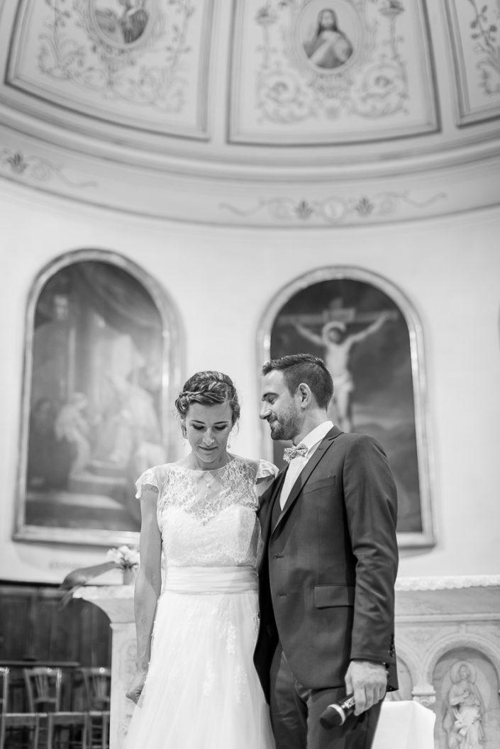 Cérémonie religieuse à l'église de Briatexte, mariage dans le Tarn, Christelle Lacour Photographe