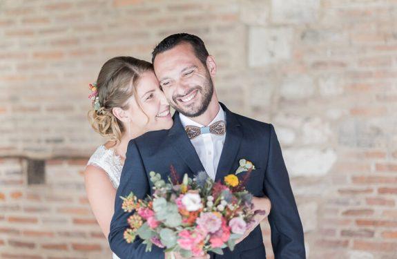 Photographe de mariage au cloitre d'Albi