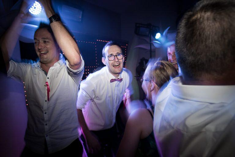 Photo de soirée de mariage fun