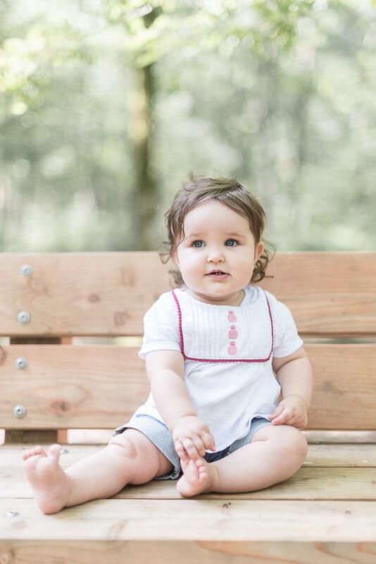 Photographe de famille avec enfant de un an à Toulouse