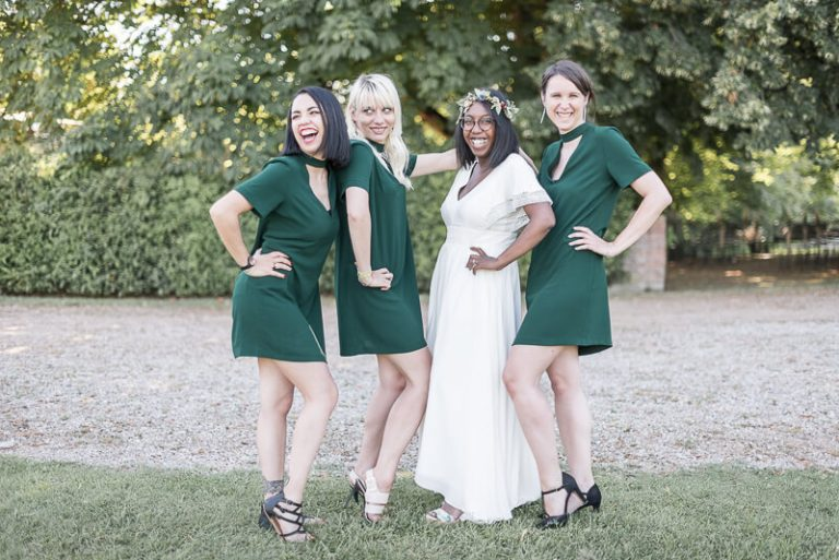 La mariée et ses bridemaids au Moulin de Nartaud