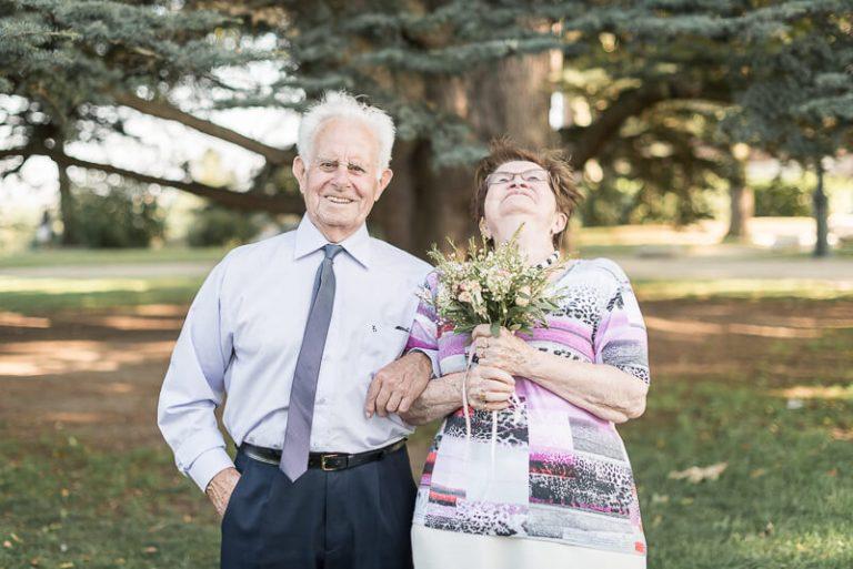 Photo des grand-parents lors d'un mariage