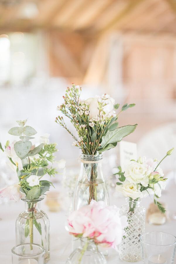 Se marier dans une grange : les Jardins de Coursiana, la décoration de table