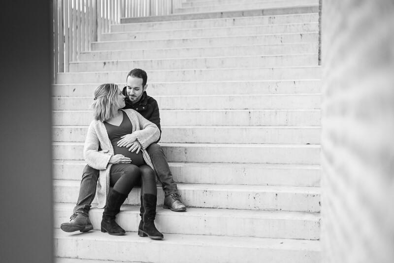 Séance photo de couple dans le centre de Toulouse