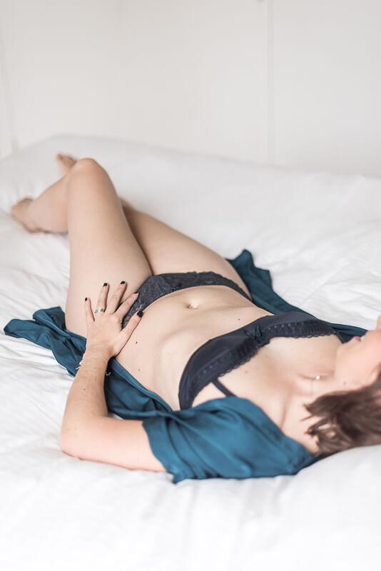 Portrait de femme en lingerie à Toulouse