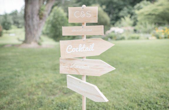 Panneau de décoration pour un mariage bilingue franco-anglais