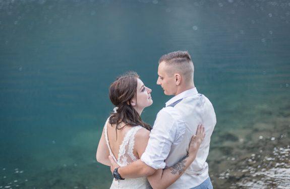 Séance photo de couple après le mariage dans les Pyrénées
