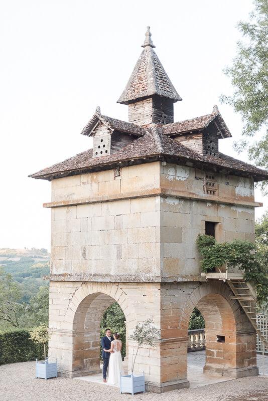 Photographe de mariage chic au Château de Cas