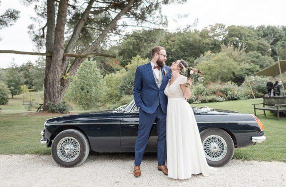 Photo de mariage chic aux Jardins de Courisana à La Romieu