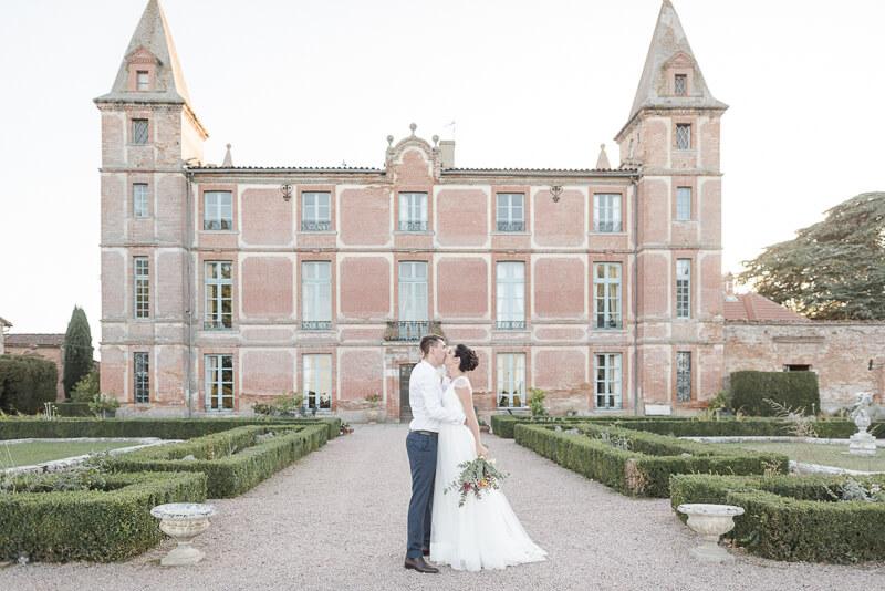Photo des mariés au Domaine de Rochemontès près de Toulouse