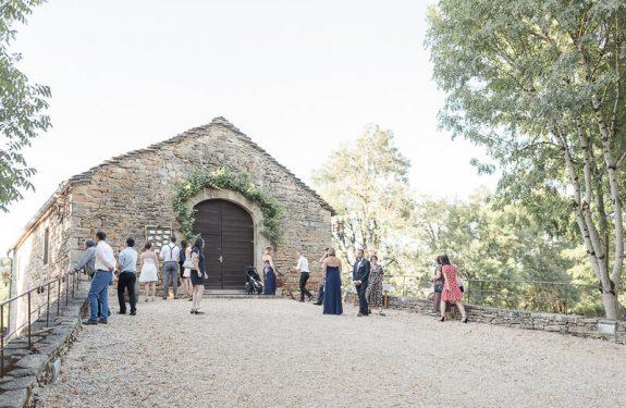 Se marier au Château de Cas, l'arrivée des invités