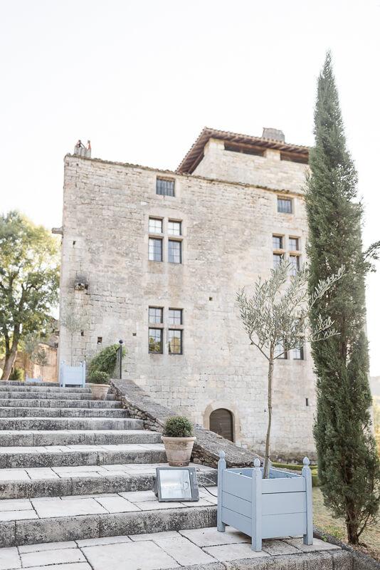 Bâtisse principale du Château de Cas