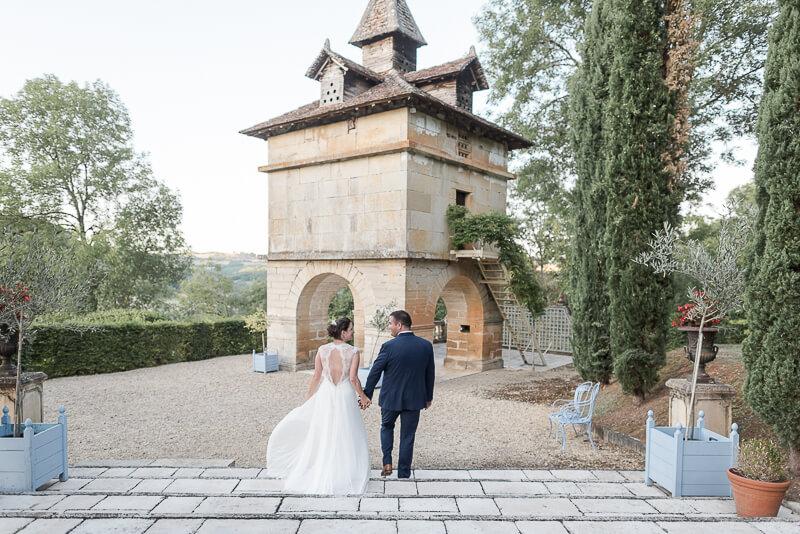 Mariage au Château de Cas, le superbe pigeonnier