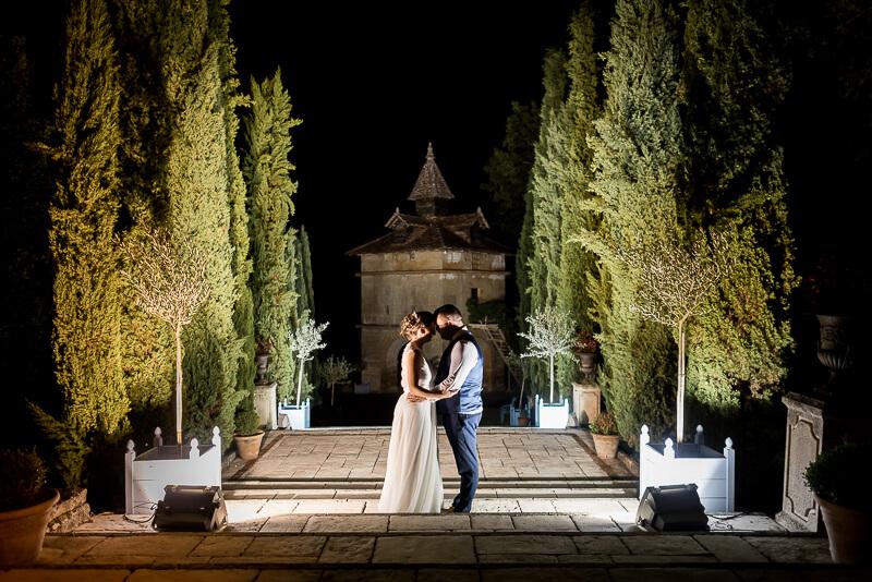 Photo de couple de nuit au Château de Cas