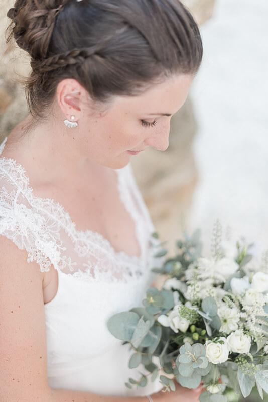 Détail de robe de mariée Alfredo Vaez
