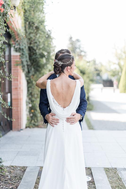 Se marier au Manoir du Prince à Toulouse, robe de mariée empire