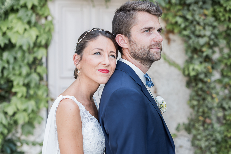 Photographe de mariage au Manoir du Prince à Toulouse, photo de couple des mariés