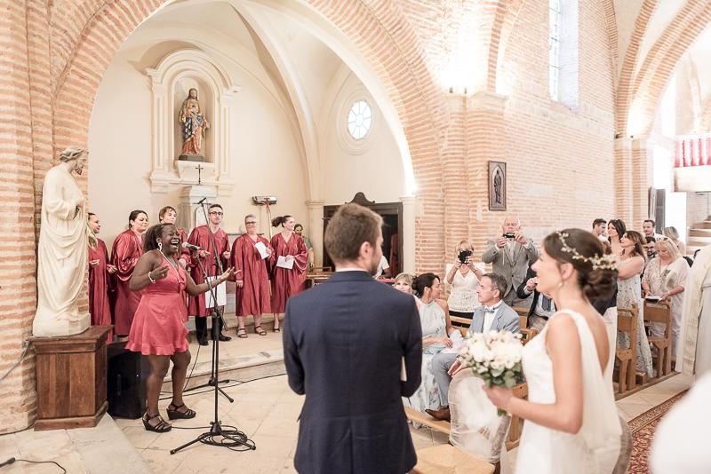 Groupe de gospel lors d'un mariage religieux à Toulouse