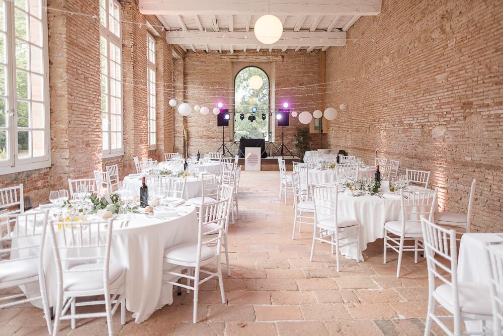 Photographe de mariage au Château de Saint Géry dans le Tarn, salle de l'Orangerie