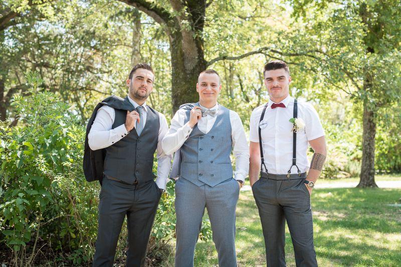 Photographe de mariage à Toulouse au Manoir du Prince Christelle Lacour Photographe, groom team