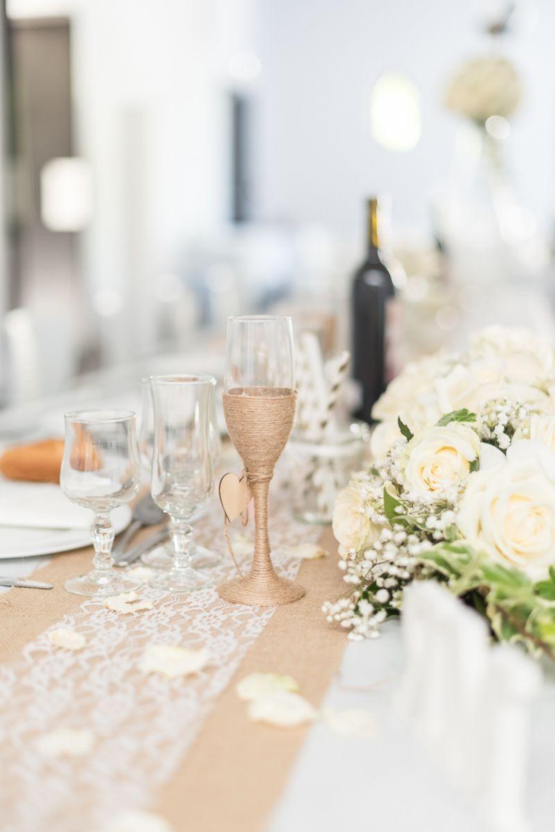 Photographe de mariage à Toulouse au Manoir du Prince Christelle Lacour Photographe, décoration de table or et argent