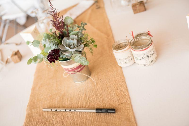 Photo de décoration de mariage musical au domaine de Pagayrac - Christelle Lacour Photographe
