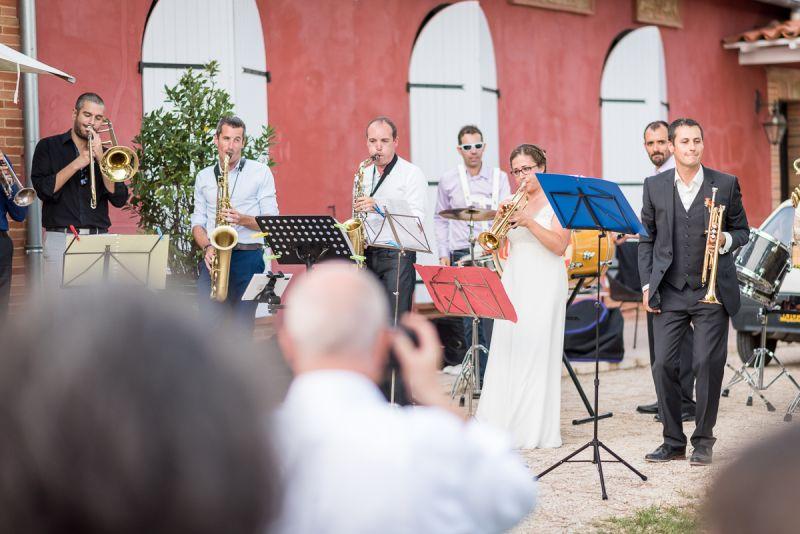 Mariés musiciens - mariage au domaine de Pagayrac - Christelle Lacour Photographe